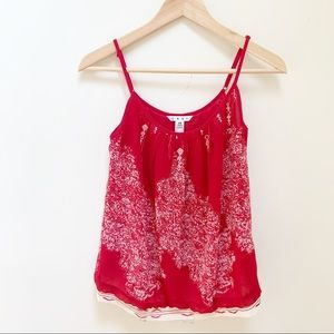 Cabi Red Heart of Township Cami Tank Top XS